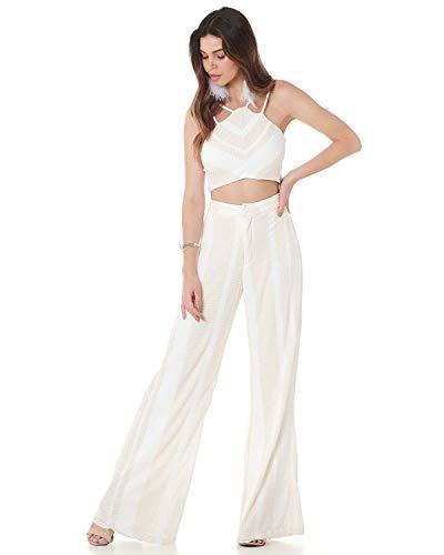 Calça Pantalona Serinah Branca (P)