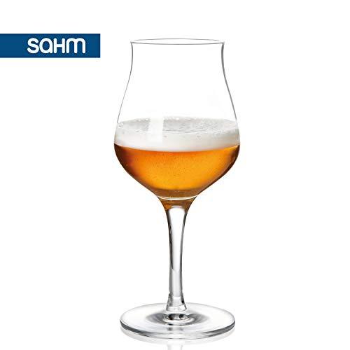 Sahm Biergläser Set 6 STK. | 420ml Bier Sensorik Pokal | Spülmaschinenfeste Bier Gläser | Ideales Gourmet Bier Geschenk | Tolle Craft Beer Gläser - 2