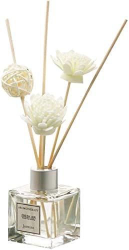 RDJSHOP Difusor de CañA Aromaterapia Juego de Difusor de Aroma Bola de RatáN Y Arreglo Floral Adecuado para Sala de Estar Oficina BañO Sala de Estar (Color : Rose)