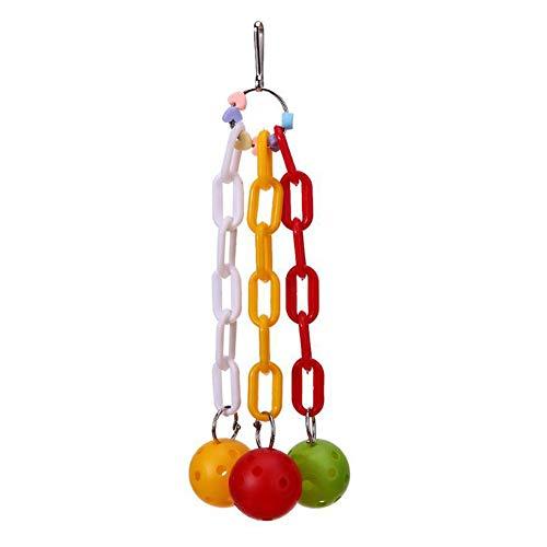 Demarkt Linda escalera para pájaros de la suerte para mascotas, escalar, loros, periquitos, cacatúas, jaulas, columpios, juguetes colgantes