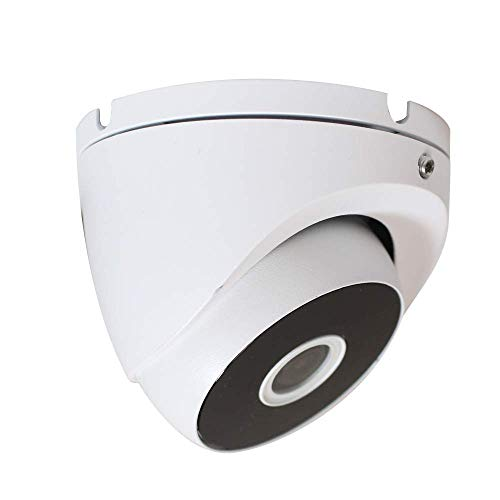 HDView 2.4MP 4-in-1 HD (TVI/AHD/CVI/960H) 1080P Outdoor Wide Angle 2.8mm Lens Black Film Technology Better IR Night Vision Turbo Platinum Dome Camera White
