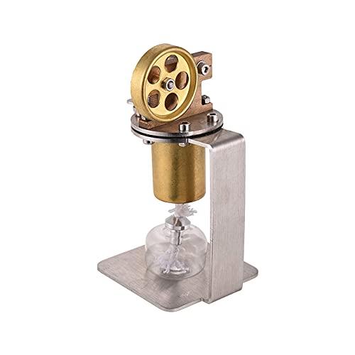 BJH Modelo de Motor de Vapor Mini Motor de Vapor en Vivo Modelo de Cilindro único Modelo de Motor de Cobre Stirling Experimento Juguete Educativo (Color: Dorado, Tamaño: Talla única)