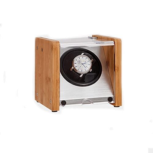 WRNM Cajas Giratorias para Relojes Caja Almacenamiento Lujo Madera con Motor Silencioso para Relojes Automáticos Tamaño De Pareja