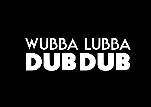VDC/DAI | (WHITE) Wubba Lubba Dub Dub Rick And Morty Vinyl Car/Laptop/Window/Wall Decal