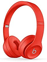 Beats Solo3 Wireless On-Ear Headphones - Citrus Red (Renewed)