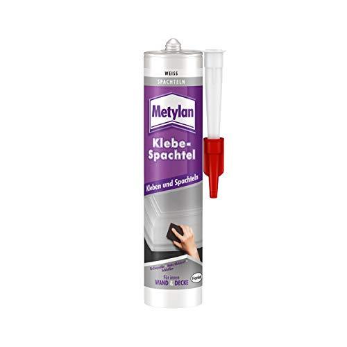 Metylan Wand & Decke Klebe-Spachtel, starker Kleber zum Spachteln, Modellieren & Reparieren, Spachtelmasse für Zierprofile, schleifbarer Klebstoff mit hoher Klebkraft, 1x525g