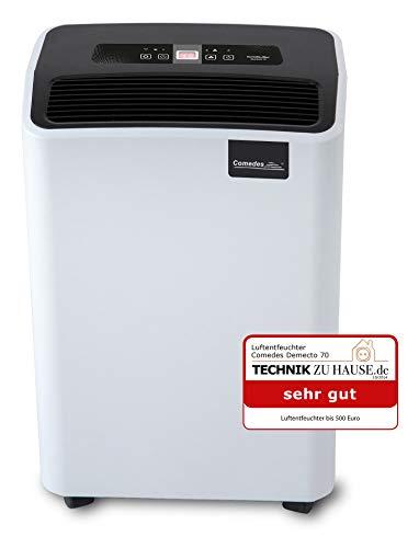 Comedes Luftentfeuchter Bautrockner Demecto 70 (max. 75 Liter / 24h) Geeignet für Räume und Keller bis 240m² / 550m³