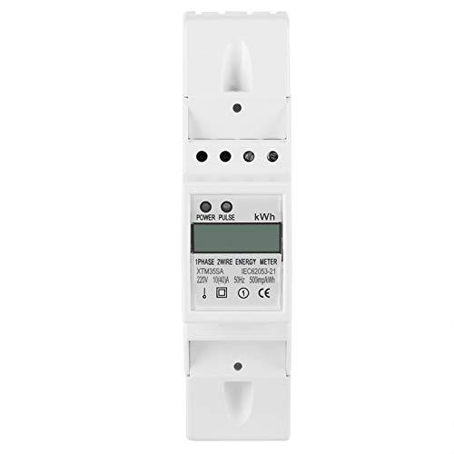 Yosoo Health Gear Medidor eléctrico monofásico LCD Digital, medidor eléctrico de riel...