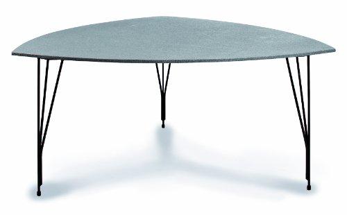 Best 28015651 Tisch Domikado dreieckig, 160 x 160 x 160 cm, schwarz/grau