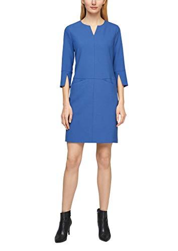 s.Oliver BLACK LABEL Damen Kleid mit femininem Ausschnitt ocean sky blue melange 38