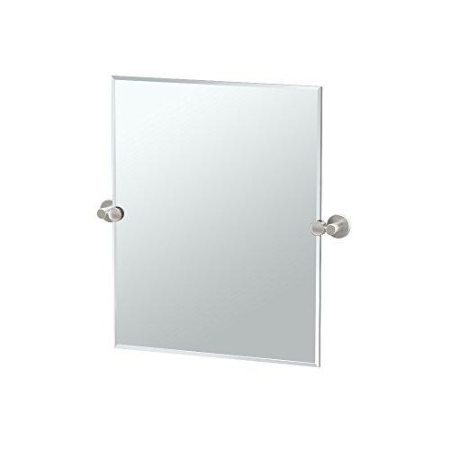 Gatco 4699SM Channel Small Rectangle Mirror, Satin -