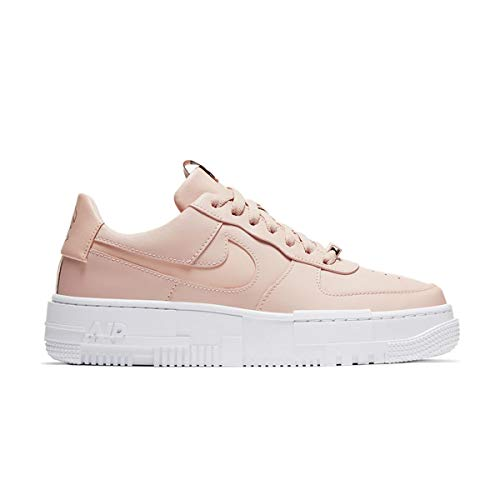 Nike Mujer Zapatos Air Force 1 Pixel Particle Beige CK6649-200, (Particle Beige/Black/White/Particle Beige), 38 EU
