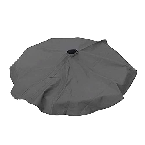 P Prettyia Protector solar impermeable al aire libre, soportes para sombrilla, cubierta de toldo, paño para patio, terraza con base de paraguas, patio