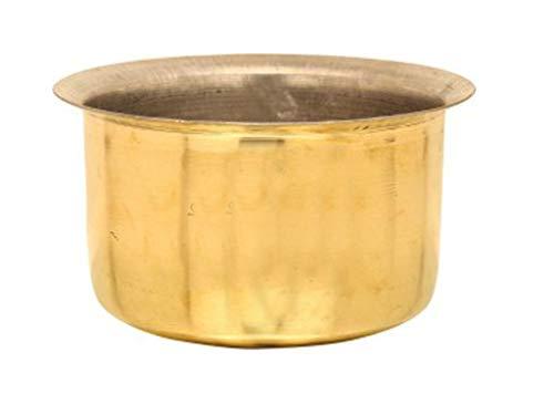 Heavy Pure Brass Tope Capacity :-3 Liter Tope Patila Cookware Bhaguna