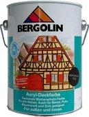 Bergotec 750 ml wetterbeständige Holzfarbe für Außen auf Dispersionsbasis Wasserverdünnbar (friesenblau 7204)