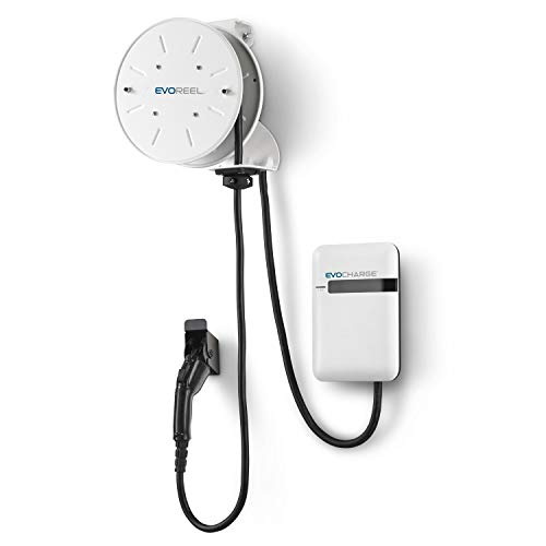 EVoCharge Electric Vehicle Charging Station with EVoReel - AC Level 2, 30 Amp, 22 ft. Charge Cable