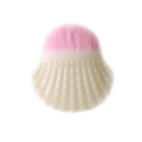 Forme Shell Pinceau De Maquillage Fashion Style Poudre Pinceau Blush Chic Shell Bottom Pinceau Pour Les Femmes (lait)