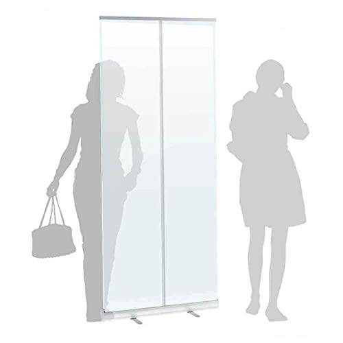 DAGCOT Transparent/Clear PVC Sneeze Screen, Freestanding Protective Screen - 31.5X78.74 Inchs - Social Distancing Shield, Spit Protection, Partition Screen, Sneeze Guard