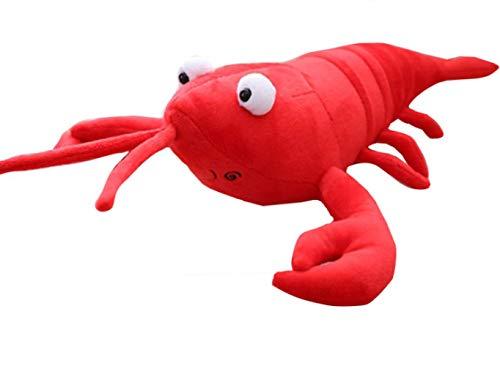 Knuffel, Simulatie Kreeft Knuffel Pop Gevuld Zeedier Kreeft Kussen Zacht Kinderspeelgoed 55cm rood
