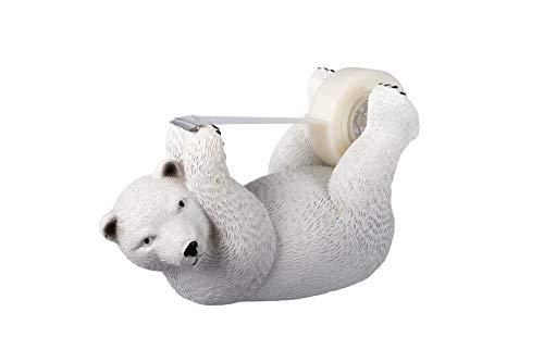 Polar Bear Tape Dispenser - Fun Desk Accessories & Office Supplies - Create a Super Fun and Cute Space in Your Working Area (Polar Bear)
