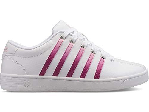 K-Swiss Damen Court Pro II Turnschuh, Weiß/Kaktusblume/Parfait Pink, 39.5 EU