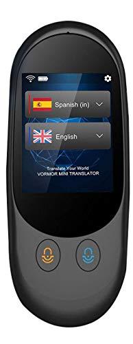 Mini Traductor Idiomas con Voz en Tiempo Real Traductor Instantaneos Admite 72 Idiomas -Suporta Wifi Hot/Alta Precisión/Grabación de Diálogo (traductor A)