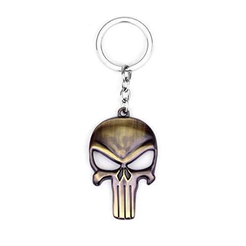 BECCYYLY Key Chain 3D Skull Head Shape Key Chain Terror Men Women Fashion Jewelry|Key Ring Holder Keyring