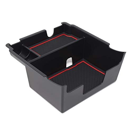 Custom Fit Center Console Armrest Organizer Accessories for 2018 2019 2020 Subaru Crosstrek and Impreza (Red Trim)