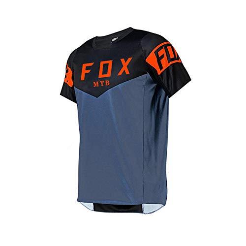 PYMNDZ Men's Downhill JerseysShort sleeve MTB fox Mountain Bike Shirts Offroad DH Motorcycle Jersey Motocross Sportwear FXR bike-XL