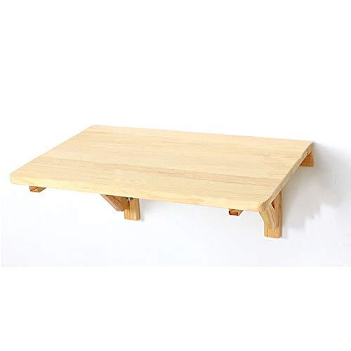 hairong Mesa de pared industrial natural, mesa de cocina plegable y mesa de comedor, mesa de madera de pino para montaje en pared (tamaño: 100 x 50 cm)