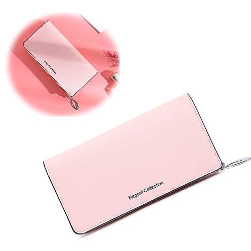 QQBB Multi-Card Rits RFID Lange Portemonnee voor dames, waterdicht, slijtvast, gemakkelijk te reinigen, kan contant geld, kaarten en mobiele telefoons bewaren, geschikt als geschenken en souvenirs