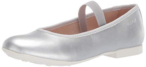 Geox Mädchen JR PLIE' D Geschlossene Ballerinas, Silber (Silver C1007), 29 EU