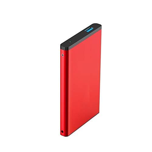 Lsmaa Disco Duro Externo HDD, 320 GB / 500GB / 250 GB / 1TB / 2TB USB3.0 Disco Duro móvil de Alta Velocidad de Alta Velocidad, Soporte Windows10 / 8/7 / Vosta / 2000 (Capacity : 500GB, Color : Red)