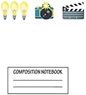 """Notebook: Lights Camera Action , Journal for Writing, Size 6"""" x 9"""", 164 Pages"""