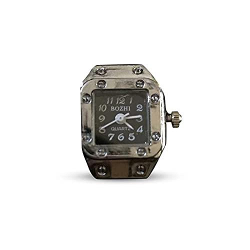 Ganmek Ringuhr-Ring Watches Reloj De Dedo Unisex Mujeres Hombres, Retro, Circunferencia De Dedo Ilimitada Greater