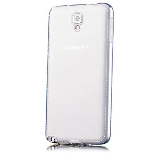 iCues Schutzhülle kompatibel mit Samsung Galaxy Note 3 NEO TPU Hülle Klar [Bildschirm Schutzfolie Inklusive]