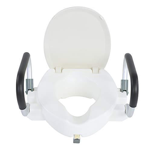 Ejoyous Rialzo per WC, Sedile WC rialzato con Comodi braccioli Antiscivolo, Sedile WC rialzato per Adulti Sedile WC rialzato per Anziani Donne Incinte con disabilità