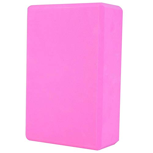DAUERHAFT Cojín Antideslizante Ligero para Yoga con Bloque de Yoga, para el hogar(Pink)