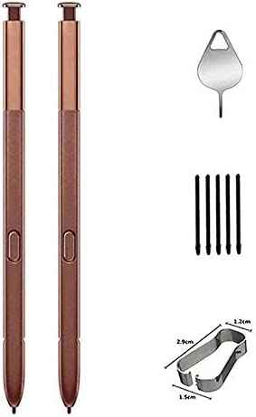 2PCS Galaxy Note 9 Pen,Stylus Touch S Pen Replacement for Galaxy Note 9 SM-N960 (Without Bluetooth) with Tips/Nibs+Eject Pin (Brown)
