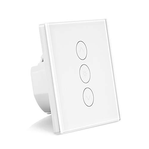Interruptor de atenuación inteligente, Konesky Wifi Interruptor de luz LED Trabajar con Alexa/Google Home/IFTTT, 1 Gang App Control remoto y soporte Timmer (se requiere un cable neutro)