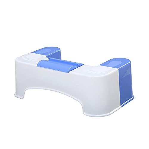 KLLKR Taburete de baño para Inodoro Taburete en Cuclillas para Entrenamiento de Orinal para Adultos niños con Soporte para teléfono móvil y Caja de Almacenamiento