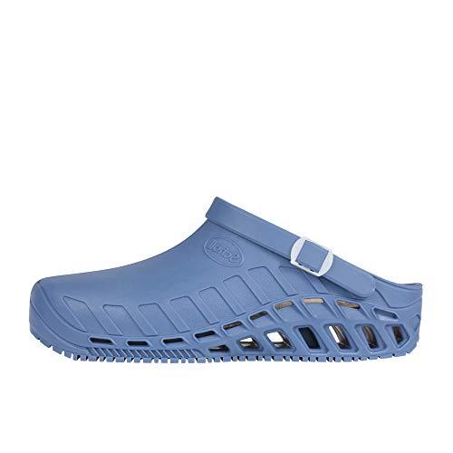Scholl Clog Evo, Pantofole Donna, Blu, 40.5 EU