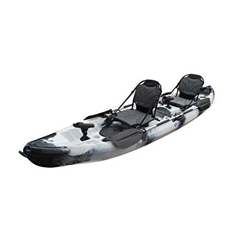Cambridge Kayaks ES, Sun Fish TÁNDEM SÓLO 2 + 1,Negro con Blanco, RIGIDO