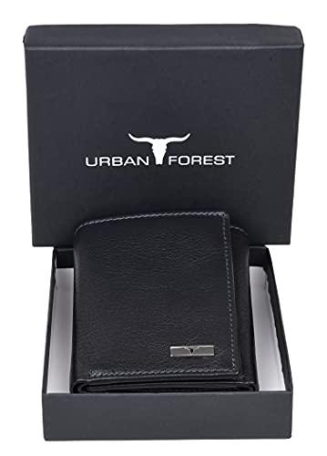Urban Forest Trio RFID Blocking Black Leather Wallet for Men