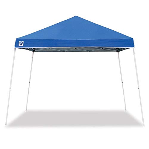 Z-Shade 10 x 10 Foot Angled Leg Instant Shade Outdoor Canopy Tent Portable Shelter with Durable Steel Frame and Carrying Bag, Blue