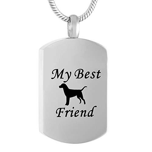 ペンダントネックレスの私の親友の犬のタグの火葬ジュエリーペット記念ケープケーキネックレスのための壷-3_チェーンとペンダント