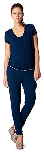 Noppies Damen Jumpsuit ss Chloe 70212 Umstandsoverall, Blau (Midnight Blue C163), 38 (Herstellergröße: M)