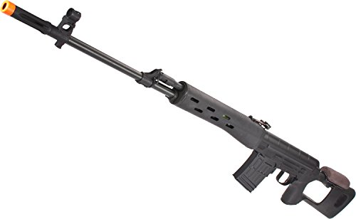 Evike - CYMA Full Metal AK Dragunov SVD Airsoft AEG Sniper Rifle - Black