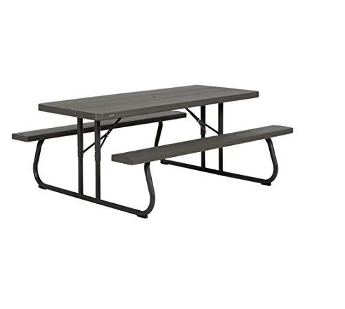 LIFETIME 60112 - Mesa con bancos plegable ultrarresistente 183x76x74 cm UV100 marrón