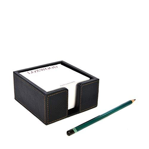 Loxwood - Porta blocco di carta, in pelle goffrata Noird taglia unica